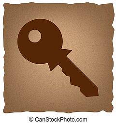 schlüssel, zeichen., weinlese, effekt