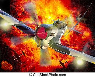 schlacht, britannien, spitfire