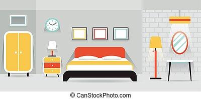 Schlafzimmer Mobel Lizenzfreie Vektor Clip Art 12 248 Schlafzimmer