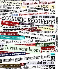 schlagzeilen, finanziell, genesung