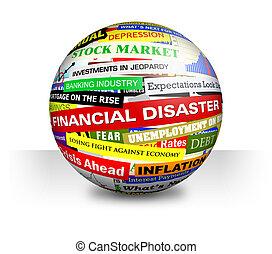 schlechte, finanziell, schlagzeilen, geschaeftswelt, ...