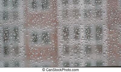 schlechte, weather., fest, wolkenhimmel, und, regen
