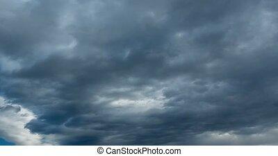 schlechte, Wetter, wolkenhimmel,  Timelapse
