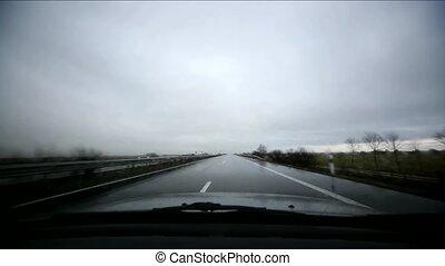 schlechtes wetter, fahren