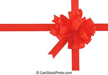 schleife, geschenkband, o, rotes