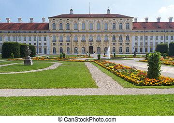 """""""schleissheim"""", castillo, (west, side), cerca, munich, alemania"""