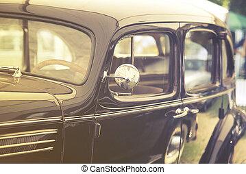 schließen, auto, altes , auf, weinlese