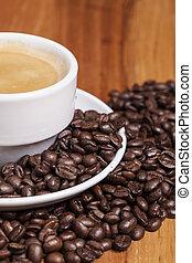schließen, kaffeetasse, auf