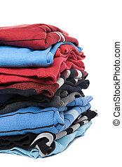 schließen, pullover, auf, gefärbt