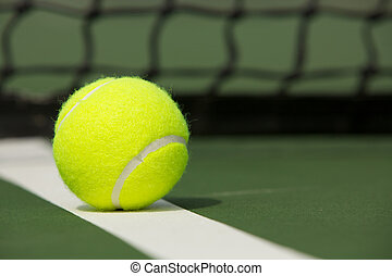 schließen, tennis, auf, kugel
