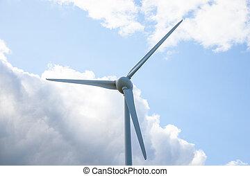 schließen, turbine, auf