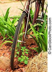 schließen, weinlese, altes , auf, bicycle.