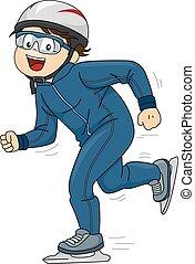 schlittschuhlaufen, geschwindigkeit