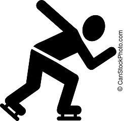 schlittschuhlaufen, geschwindigkeit, piktogramm