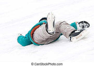 schlittschuhlaufen, verletzung, sport, winter