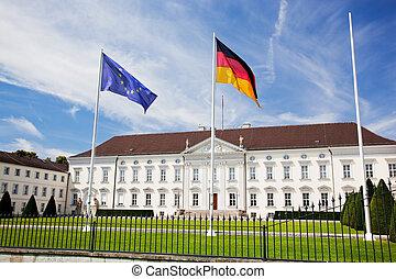 Schloss Bellevue. Presidential palace, Berlin, Germany -...