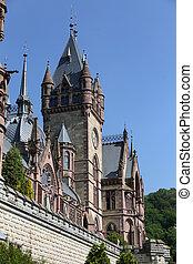 Schloss Drachenburg in Bonn, Germany - Facade of Schloss...