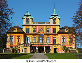 """Situated near Stuttgart and known as the """"Versailles of Swabia"""", Ludwigsburg was founded in 1704 on the initiative of Eberhard Ludwig, Duke of Wurttemberg. The """"Favorite"""" hunting lodge was built between 1716 and 1723, but its interior has been remodelled in Neo-Classical style."""