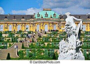 Schloss in Potsdam, Germany.
