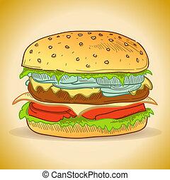schmackhaft, hamburger