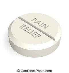 schmerz, pille, tablette, erleichterung