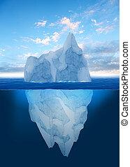 schmilzender , eisberg