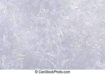 schnee, oberfläche