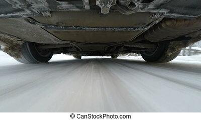 schnee, straße, fahren