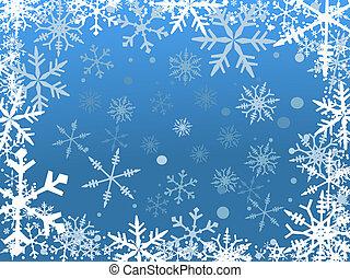schnee, umrandungen