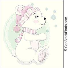 schneeflocke, bär, teddy