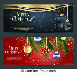 schneeflocken, satz, abbildung, karten, sternen, kugeln, weihnachten
