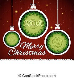 schneiden papier, weihnachten, kugeln