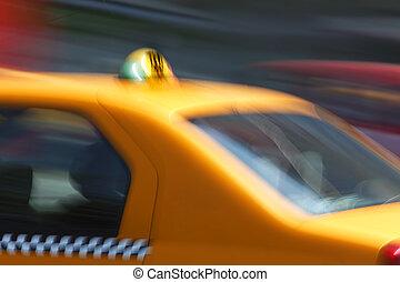 schnell, taxifahrzeuge, transport, abstrakt
