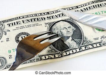 schnitt, geld, einige, auf, aufwendungen, retten