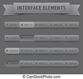 schnittstelle, elemente, benutzer