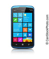 schnittstelle, touchscreen, smartphone, modern
