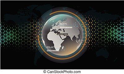 schnittstelle, wissenschaft, global, technologie, zukunftsidee