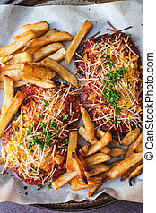 schnitzel, fromage, vegan, parmi, plant-based, nourriture, dairy-free, coiffe, chips, tomate