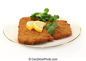 schnitzel - Viennese-style schnitzel with lemon and parsley