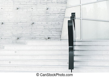 schody, abstraktní, neposkvrněný, moderní, minimalism, architektura