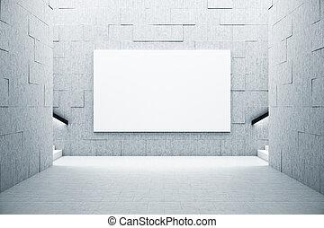 schody, nachylenie, biały, wall., tablica ogłoszeń, rówieśnik, wewnętrzny