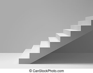 schody, pokój, opróżniać