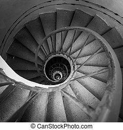 schody, spirala