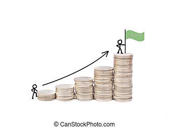 schody, vymyslit, pojem, finanční machinace, success.