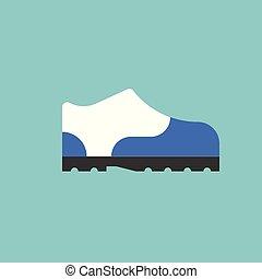 schoen, vector, sneaker, ontwerp, plat, pictogram