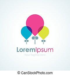 schoenheit, bunte, party, luftballone, elem