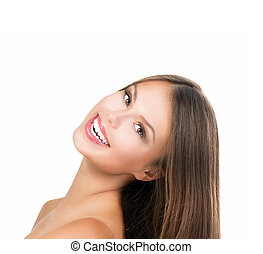 schoenheit, m�dchen, face., schöne , jugendlich, modell, m�dchen, porträt