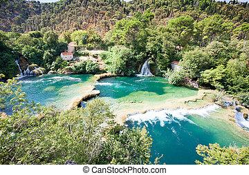 schoenheit, natur, park, sibenik, national, innerhalb, krka, -, krka, kroatien, genießen