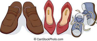 schoentjes, gezin