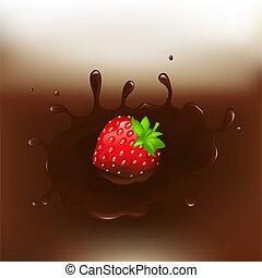 schokolade-eingetauchte erdbeere
